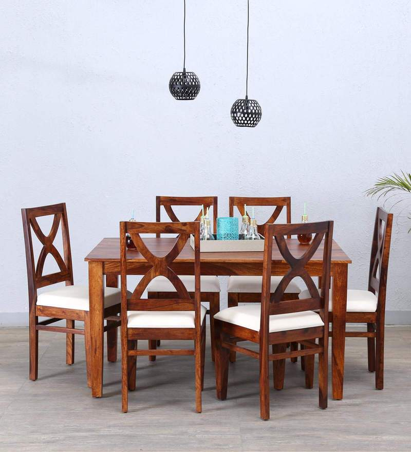 Santa Fe Six Seater Dining Set in Honey Oak Finish by Woodsworth