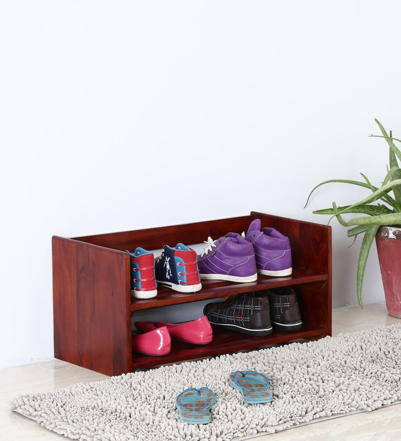Savannah Shoe Rack in Honey Oak Finish by Woodsworth