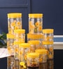 Saaj Yellow Plastic 12-piece Round Jar Set