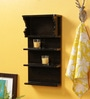 Brown MDF Hand Painted 5 Tier Wall Shelf by Crafts Land