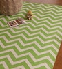 Green & White PVC 70 x 47 Inch Area Rug by The Rug Republic