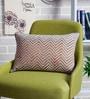 Beige & Mustard Cotton 12 x 18 Inch Vina Printed Cushion Cover by Sadyaska