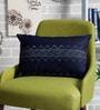 Indigo Denim 12 x 18 Inch Ahoy Hand Block Printed Cushion Cover by Sadyaska