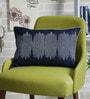 Sadyaska Indigo Denim 12 x 18 Inch Rhode Hand Block Printed Cushion Cover