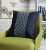 Indigo Denim 16 x 16 Inch Cuba Embroidered Cushion Cover by Sadyaska
