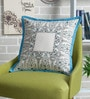 Ivory Cotton 16 x 16 Inch Block Printed Cushion Cover by Sadyaska