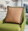 Mustard & Brown Cotton 16 x 16 Inch Aparna Printed Cushion Cover by Sadyaska