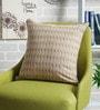 Mustard & Green Cotton 16 x 16 Inch Advita Printed Cushion Cover by Sadyaska