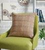 Mustard Cotton 16 x 16 Inch Adrika Printed Cushion Cover by Sadyaska