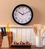 Safal Quartz Black MDF 11.5 Inch Round Nice View Wall Clock