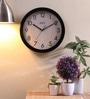 Black MDF 13.5 Inch Round Bold Figured 2 Tone Beauty Wall Clock by Safal Quartz