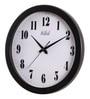 Black MDF 13.5 Inch Round Two Toned Cute Figured Wall Clock by Safal Quartz