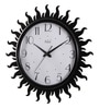 Black MDF 16 Inch Round Agni Look Sunflower Wall Clock by Safal Quartz