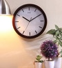 Safal Quartz Brown MDF 13.5 Inch Round Dots & Indexes Coloured Wall Clock