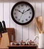 Safal Quartz Brown MDF 9 Inch Round Perfect Size Full Figured Wall Clock