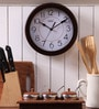 Brown MDF 9 Inch Round Sleek Look Beauty Wall Clock by Safal Quartz