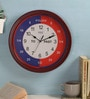 Red MDF 14 x 14 Inch Past to Second Wall Clock by Safal Quartz