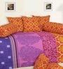 Brown Cotton Damask Diwan Set - Set of 8 by Salona Bichona