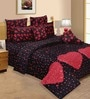 Salona Bichona Federal Blue & Ruby Double Bed Sheet Set