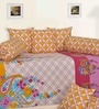 Salona Bichona Yellow Cotton Paisley Diwan Set - Set of 8
