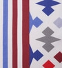 Salona Bichona Blue 100% Cotton Queen Size Bedsheet - Set of 3