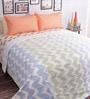 Blue 100% Cotton Queen Size Blanket by Salona Bichona