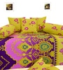 Salona Bichona Yellow Cotton Abstract Diwan Set - Set of 8
