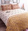 Salona Bichona Grey 100% Cotton Queen Size Bedsheet - Set of 3