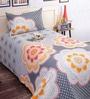Salona Bichona Grey Poly Cotton Single Size BedSheet - Set of 2