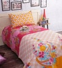 Salona Bichona Multicolour 100% Cotton Single Size Bedsheet - Set of 2