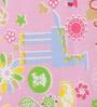 Pink 100% Cotton Single Size Bedsheet - Set of 2 by Salona Bichona