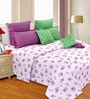 Multicolor Cotton 106 X 106 Inch Bed Sheet (With Pillow Covers) by Salona Bichona
