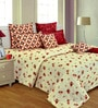 Salona Bichona Multicolor Cotton 106 x 106 Inch Bed Sheet (with Pillow Covers)