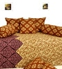 Salona Bichona Yellow Cotton Abstract Motifs Diwan Set - Set of 8