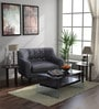 San Bruno One Seater Sofa in Charcoal Grey Colour by CasaCraft