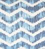 Sanaa Indigo 100% Cotton 20 x 12 Inch Zig-Zag Panel Printed Indigo Cushion Cover