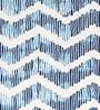 Sanaa Indigo 100% Cotton 20 x 20 Inch Zig-Zag Panel Printed Indigo Cushion Cover