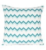 Multicolour 100% Cotton 18 x 18 Inch Zig-Zag Design Panel Printed Cushion Cover by Sanaa