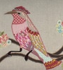 Sanaa Multicolour 100% Cotton 24 x 14 Inch Bird Dot Printed with Patch, Sequin Work Cushion Cover