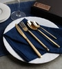 Sanjeev Kapoor Midas Gold Plated Stainless Steel Cutlery Set - Set Of 24