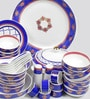 Noor Collection Bone China Dinner Set - Set of 48 by Sanjeev Kapoor