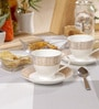 Sanjeev Kapoor Prism Collection Bone China 140 ML Cup & Saucer - Set of 6