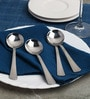 Sanjeev Kapoor Solitaire Stainless Steel Dessert Soup Spoon - Set Of 6
