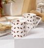 Sanjeev Kapoor Utsav Collection Bone China 190 ML Coffee Mug - Set of 6