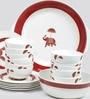 Sanjeev Kapoor Utsav Collection Bone China Dinner Set - Set of 27