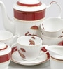 Sanjeev Kapoor Utsav Collection Bone China Tea Set - Set of 15
