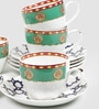 Sanjeev Kapoor Virasat Collection Bone China 140 ML Cup & Saucer - Set of 6
