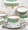 Sanjeev Kapoor Virasat Collection Bone China Tea Set - Set of 15