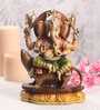 Sanskruti Multicolour Polyresin Ganesh with Mooshak Statue