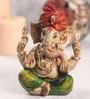 Sanskruti Multicolour Polyresin Ganesh Wearing Turban Statue